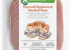 Organic Uncured Applewood Smoked Ham