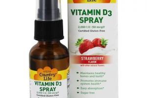 Vitamin D3 Spray Strawberry Flavor