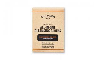 All-in-One Cleansing Cloths - Bourbon Cedar