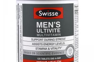 Swisse, Mens Ultivite Multivitamin, Men's Health, 120 Tablets