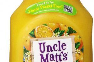 Pure Organic Orange Juice with Calcium & Vitamin D