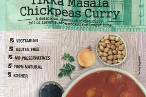 Organic Tikka Masala Chickpeas Curry