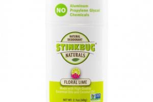 Floral Lime Organic Deodorant Stick