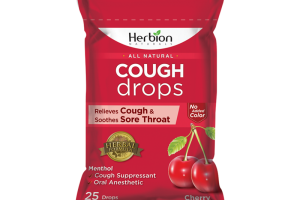Cough Drops Pouch with Cherry Flavor