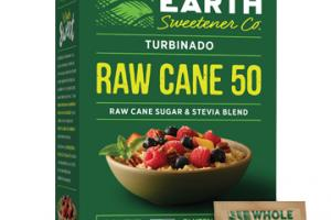 Turbinado Raw Cane 50 Raw Cane Sugar & Stevia Blend