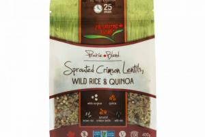 Sprouted Crimson Lentils, Wild Rice & Quinoa