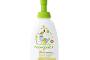 night time shampoo + body wash, orange blossom