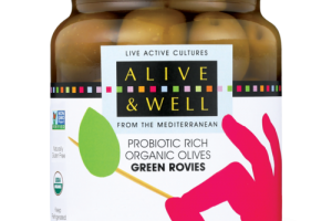 GREEN ROVIES - Probiotic Rich Organic Olives