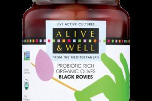 BLACK ROVIES - Probiotic Rich Organic Olives