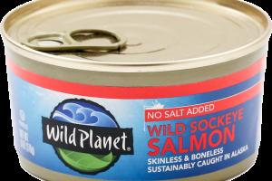 Wild Sockeye Salmon No Salt Added