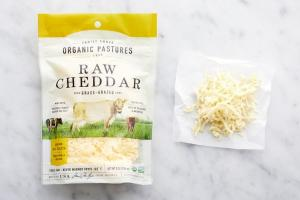 TRULY SHREDDED RAW CHEDDAR CHEESE