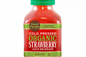 Cold-Pressed, Organic, Strawberry Juice