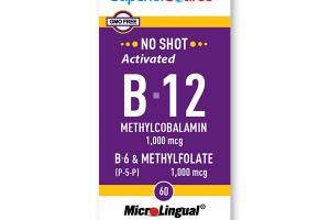 NO SHOT Methylcolbalamin Activated B-12 1,000 mcg / B-6 (P-5-P) & Methylfolate 1,000 mcg