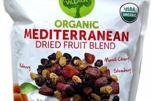 Organic Mediterranean Dried Fruit Blend