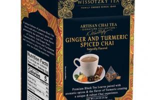Artisan Chai Tea, Ginger and Turmeric Spiced Chai
