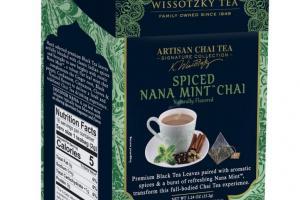 Artisan Chai Tea, Spiced Nana Mint Chai
