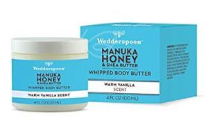 Manuka Honey & Shea Butter Whipped Body Butter, Warm Vanilla Scent