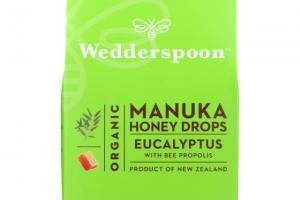 Organic Manuka Honey Drops - Eucalyptus