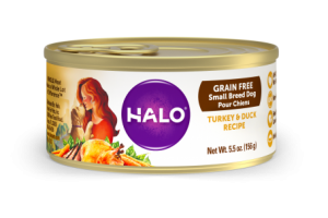 Halo Small Breed Grain Free Turkey and Duck Recipe for Dogs