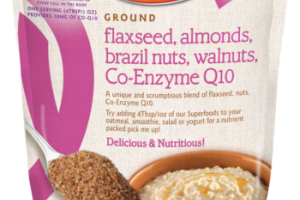 Flaxseed, Almonds, Brazil Nuts, Walnuts, Co-enzyme Q10
