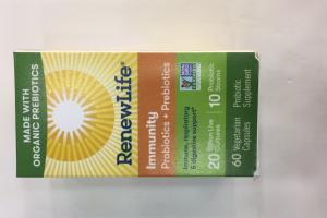 Immunity Probiotics + Prebiotics Vegetarian Capsules, Probiotic Supplement
