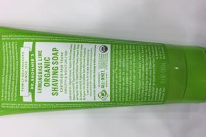 Lemongrass Lime Organic Shaving Soap