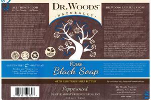 Raw Black Soap, Peppermint