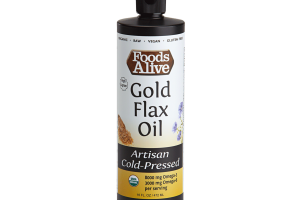Gold Flax Oil, Artisan Cold-pressed
