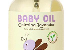 Moisturizing Baby Oil, Calming Lavender