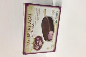 Raspberry Acai In Chocolate Non-dairy Frozen Dessert