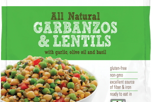 Garbanzos & Lentils With Garlic, Olive Oil And Basil