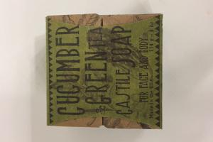 Cucumber & Green Tea Castile Soap For Face And Body