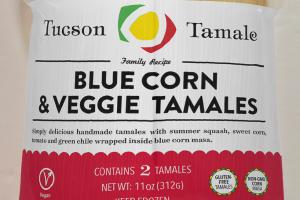 Blue Corn & Veggie Tamales