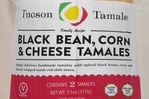 Black Bean & Cheese Tamales