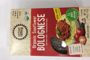 Organic Sunflower Bolognese Sunflower Hache + Seasoning Blend Inside