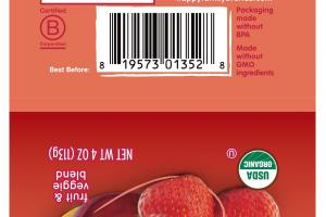 Organic Bananas, Beets & Strawberries