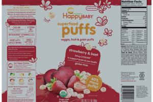 Veggie, Fruit & Grain Puffs Finger Food For Babies