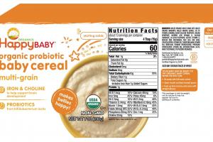 Organic Probiotic Baby Cereal