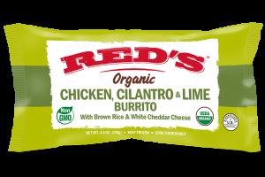 Organic Chicken, Cilantro & Lime Burrito