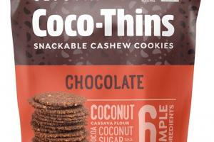 Coco-thins Snackable Cashew Cookies
