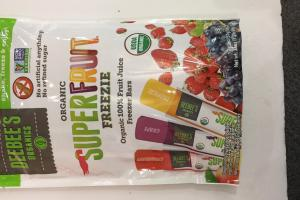 Organic 100% Fruit Juice Freezer Bars