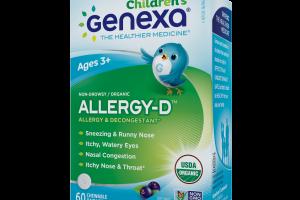 Children's Organic Allergy & Decongestant, Organic Acai Berry