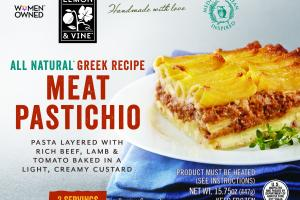 Meat Pastichio Creamy Custard