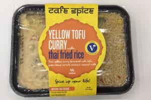 Yellow Tofu Curry With Thai Fried Rice