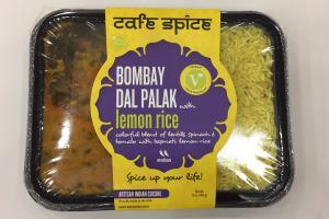 Bombay Dal Palak With Lemon Rice
