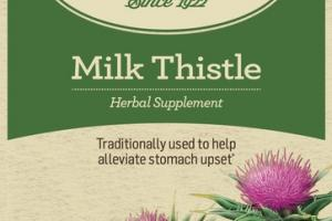 ORGANIC TRADITIONALLY USED TO HELP ALLEVIATE STOMACH UPSET HERBAL SUPPLEMENT TEA BAGS, MILK THISTLE