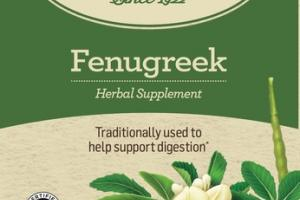 ORGANIC TRADITIONALLY USED TO HELP SUPPORT DIGESTION HERBAL SUPPLEMENT TEA BAGS, FENUGREEK