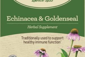 ECHINACEA & GOLDENSEAL HERBAL SUPPLEMENT TEA BAGS