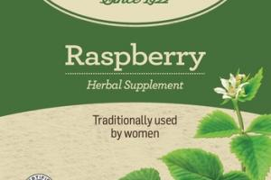 ORGANIC TRADITIONALLY USED BY WOMEN HERBAL SUPPLEMENT TEA BAGS, RASPBERRY