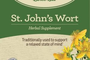 ORGANIC TRADITIONALLY USED TO SUPPORT A RELAXED STATE OF MIND HERBAL TEA BAGS SUPPLEMENT